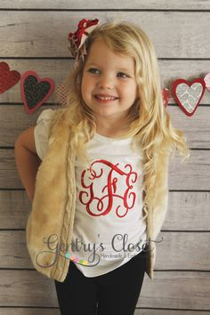 Monogrammed Girl's shirt. Personalize 3 letter monogram for little girl, baby, toddler. Embroidered name. Children's boutique clothing. on Etsy, $22.00 Baby Outfits, Monograms Shirts Toddlers, Monograms Girls, Affordable Boutiques, Children Boutiques Clothing, Monogram Little Girls Shirts, Baby Girls, Children Boutique Clothes, Shopping Ideas