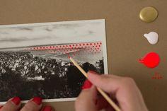 Holiday Cards // pop art postcard DIY