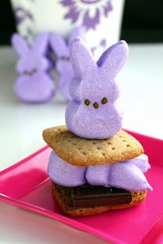 purple bunny marshmallow
