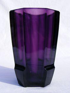 Rudolf Schrotter amethyst glass vase