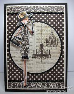 handmad card, girl audrey, uptown girl, stamp bella