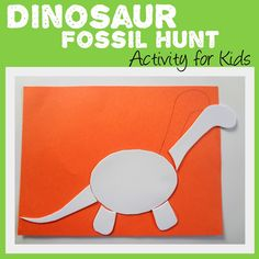 Simple Dinosaur Fossil activity for kids. Let them find and put together their very own dinosaur!
