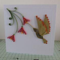 quilled hummingbird - unknown artist