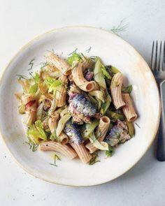 Caramelized Fennel, Celery and Sardine Pasta Recipe