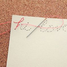 thread, needle and a letter <3