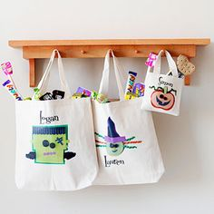Halloween Treat Bags & Boxes: Personalized Halloween Bags (via Parents.com)