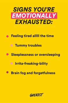 It's more than just being tired. We'll help ya cope.