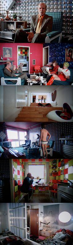 Interiors of Clockwork Orange, Kubrick, 1971