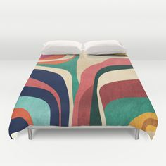 """""""Impossible contour map"""" Duvet Cover by Budi Satria Kwan on Society6."""