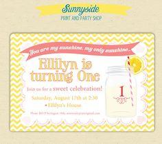 You Are My Sunshine / Pink Lemonade by sunnysideprintparty on Etsy, $15.00