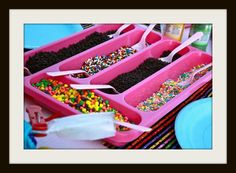 Cute idea for a utensil caddy! Ice cream, taco and much more