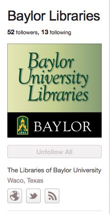 http://pinterest.com/BaylorLibraries/