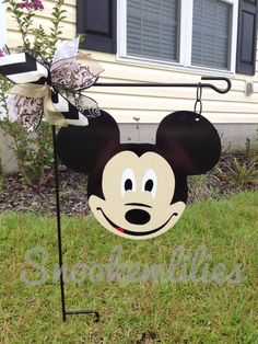Metal Mickey Head by Snookemlilies. Check out Snookemlilies on Facebook and Etsy.