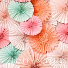 By 10 Get 3 Free / 4 Size Tissue Paper Fan by HappyJewelrySupplies, $18.00