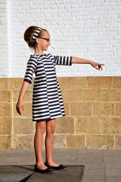 Love what she did with the stripes!