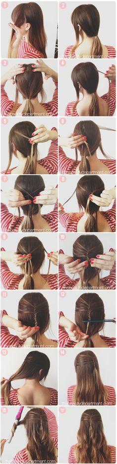 Mini french braid tutorial. #hairstyle #peinado #tocado #cheveux #pelo #tresse #braid #ponytail #trenza #hair