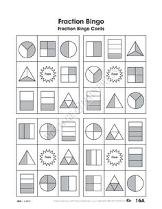 Awesome math game, students will love! Grade 3 Math - Fraction Bingo.