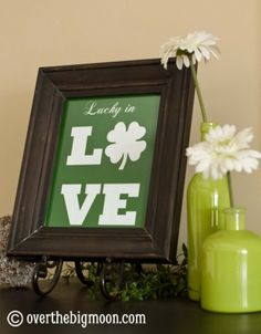 St. Patty's Day Home Decor...very cute!