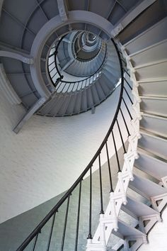 Spiral stairs in Ponce Inlet Lighthouse. (Richard Cummins)