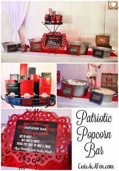A Patriotic Popcorn Bar is only one of the amazing details at this 4th of July wedding!