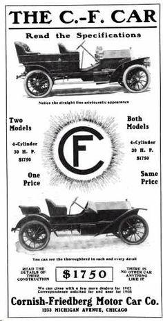 1908 C. F. Automobile Advertisement