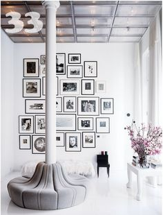 photo wall composition