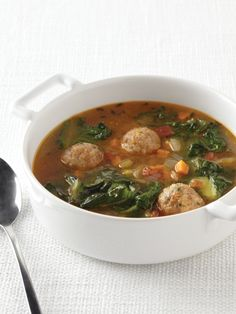 Italian Wedding Soup Recipe : Food Network Kitchens : Food Network - FoodNetwork.com