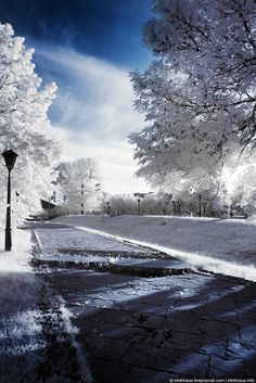 Gorgeous Icy Infrared Photographs of Kiev by Oleg Stelmach.