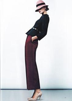 Ella Kandyba for Harper's Bazaar Ukraine October 2012