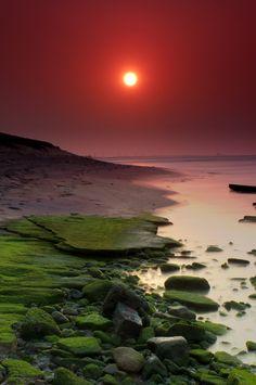 Sunrise, A beautiful morning at the shores of Kanyakumari, India
