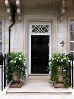 front door in black