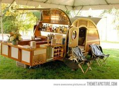 Trailer with full bar...perfect.