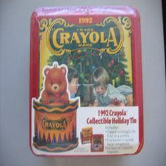 collectible tins | 1992 Crayola Collectible Holiday Tin ...
