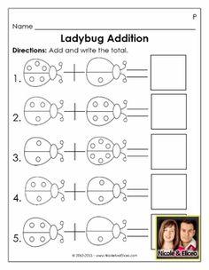 "Cute ""Ladybug Addition"" activity for Preschool & Kindergarten math!"