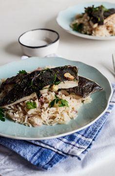 Grilled fish on Lemon Pilaf. #Recipe #Dinner #Healthy