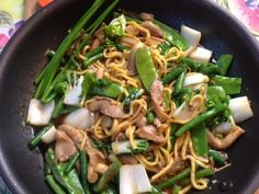 How to cook Vegetables Stir Fry with Egg Noodles on http://asianinamericamag.com