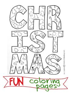 Fun Christmas Coloring Pages {to Paint}