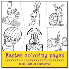 Free downloadable #Easter coloring pages for kids! #artforkids || Gift of Curiosity