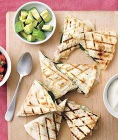 Grilled Chicken and Spinach Quesadillas