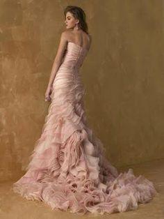 pink dress...that's an idea!