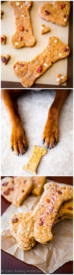 Homemade Peanut Butter Bacon Dog Treats - so easy and my pup goes NUTS for them!
