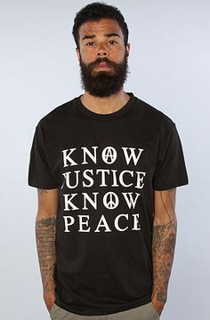 Know Justice Know Peace Tee by GPPR, Save 20% off your order with Rep Code: PAMM6