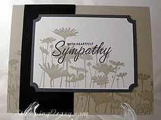 Quick and simply and love the color combo - so soothing! stamp sets, summer silhouettes, color palettes, card making stampin up, color combos, color combinations, sympathy cards stampin up, sympathi card, stampin up sympathy cards