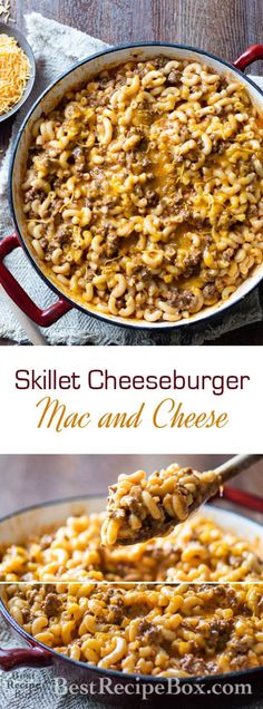 Skillet Cheeseburger Macaroni and Cheese recipe @bestrecipebox