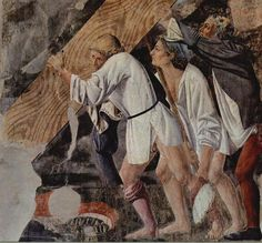 Piero della Francesca, Burial of the Wood, c. 1466, fresco 390 x 747 cm, (detail) San Francesco, Arezzo  Amazing!