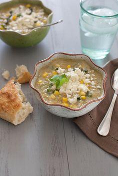 Mexican Corn and Poblano Soup