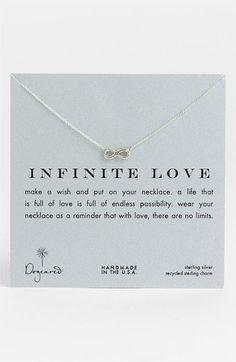 dogeared 'infinite love' reminder Pendant necklace