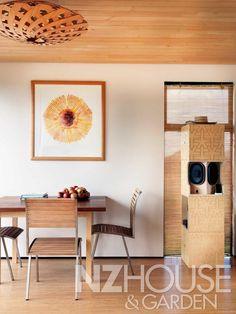 A FLAX by David Trubridge in his beach house in NZ
