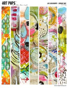 ART POPS Sticker Tape from the Lo's Serendipity by Robenmariesmith, $3.95