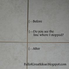 Full of Great Ideas: Out Damned Spot! Out I Say! Best way to clean grout